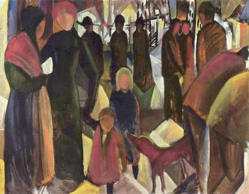 Abschied (1914) - August Macke